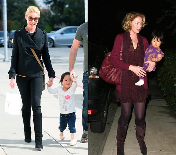 Katherine Heigl férjével közösen két gyermeket is adoptált, 2009-ben a koreai Naleigh-t, majd 2012-ben Adailaide-et.