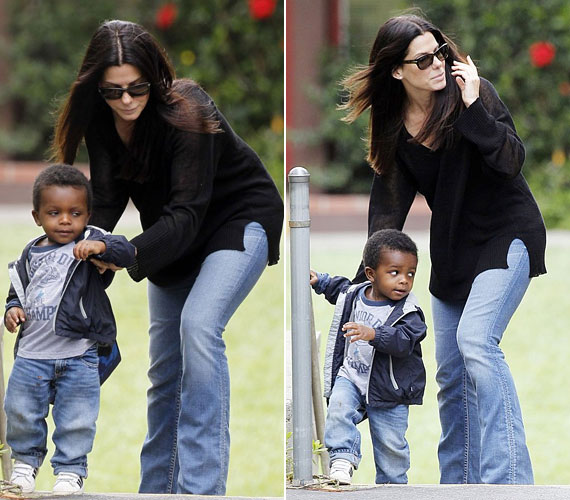 Sandra Bullock még exférjével, Jesse James-szel indította el az örökbefogadási eljárást, de 2010-ben már elvált nő volt, amikor hozzákerült a kis Louis.