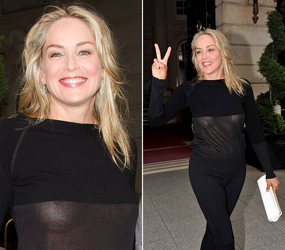 Az biztos, hogy Sharon Stone nem tartozik a visszafogott sztárok közé, ám ezzel az átlátszó darabbal talán túllőtt a célon.