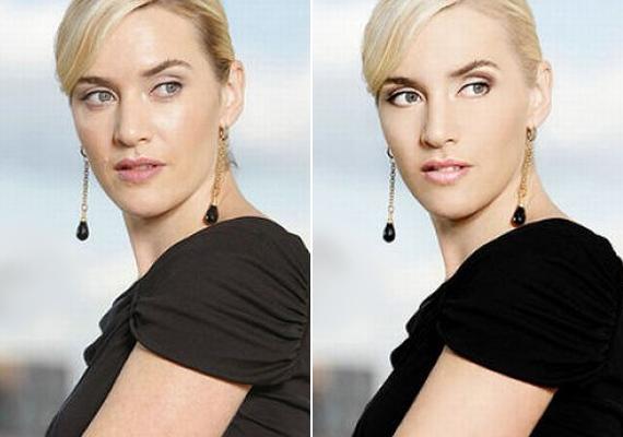 Kate Winsletet igazi jégkirálynővé változatták, lephotoshopolták az arcmimikáját is.