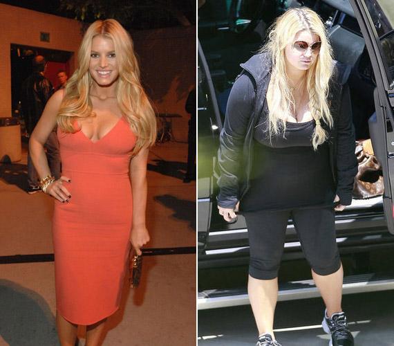 Jessica Simpson az első terhessége alatt szedett fel jó néhány kilót, amit kislánya, Maxwell születését követően csak hatalmas akaraterővel, rendszeres testmozgással és speciális diétával tudott leadni.