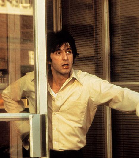 Három Oscar-jelölésA fiatal Pacino mint meleg bankrabló a Kánikulai délutánban. Hiába a felejthetetlen alakítások, a Filmakadémia továbbra sem jutalmazta aranyszoborral. Pedig három egymást követő évben jelölték a Serpicóért, a Keresztapa II-ért és a Kánikulai délutánért.