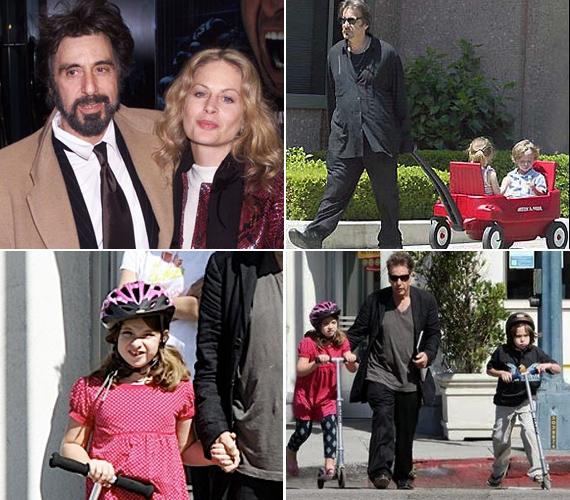 Al Pacino és Beverly D'Angelo 1996-tól 2003-ig éltek együtt, miután szakítottak megosztva nevelik az ikreket, a 71 éves színész igyekszik minél több időt tölteni az iskolás lurkókkal.