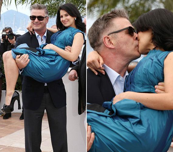 Kim Basinger volt férje 2011 nyarán ismerte meg a jógaoktató Hilaria Thomast. A mindent elsöprő szerelemnek köszönhetően egy év múlva már össze is házasodtak, idén februárban pedig bejelentették, hogy első gyermeküket várják.