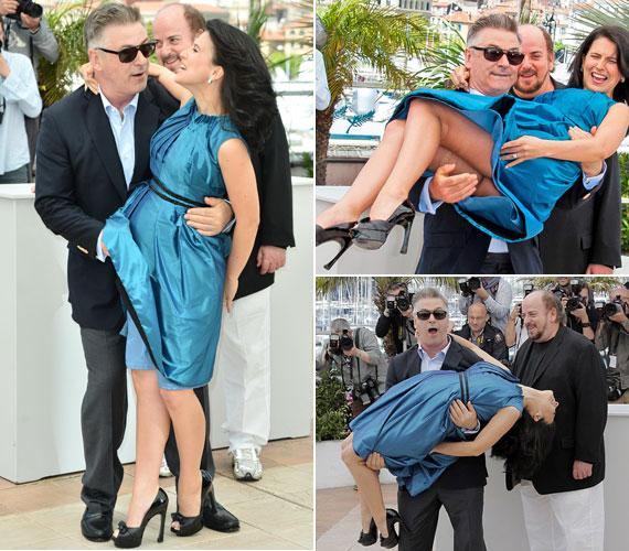 Az 55 éves színész csak jót akart mókázni 29 éves nejével. Nem gondolta, hogy kellemetlen fotók készülnek a bolondozásról - olyanok, melyek az asszonyka pucér feneke mellett még a szakadt harisnyáját is megmutatják.