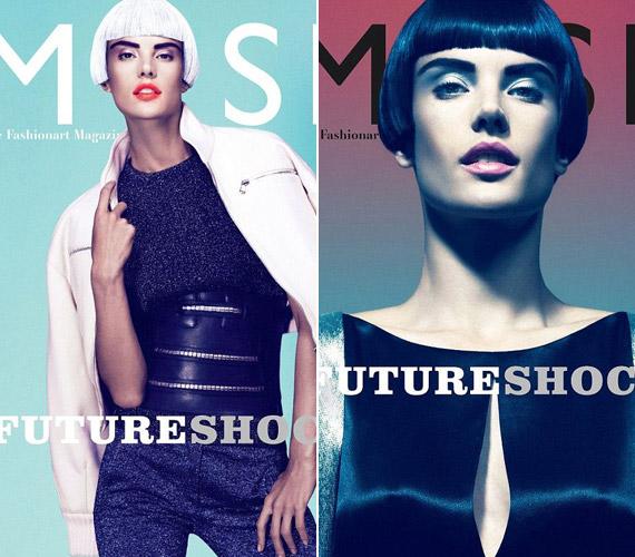 A futurisztikus fotókat bemutató Muse magazin két címlapverziót is készített Alessandra Ambrosióval.
