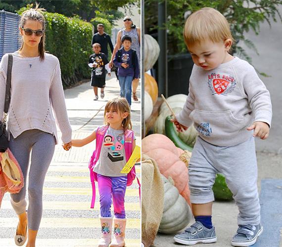A modell gyermekei egyre jobban hasonlítanak édesanyjukra.