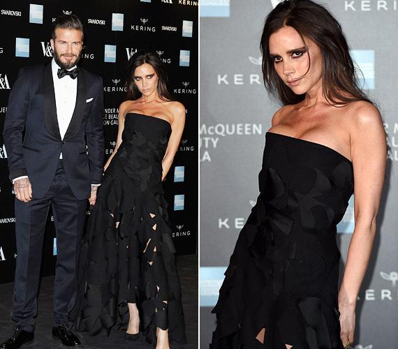 Victoria Beckham egy különleges darabot választott a partira, de leginkább a drámai sminkje volt az, amivel felkeltette a figyelmet.