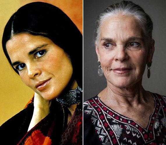 Ali MacGraw 31 éves volt, amikor a Love Story női főszereplőjeként megismerte a világ. A színésznő 77 éves, és még mindig aktív.