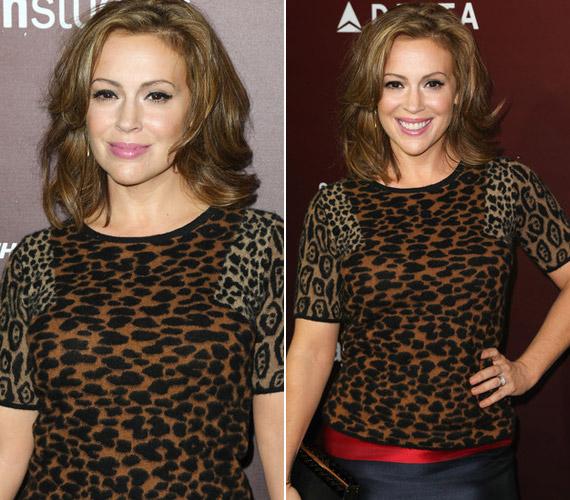 A színésznő büszkén viselte furcsán összeválogatott öltözékét.