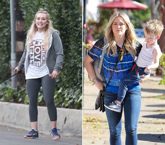 A 27 éves színésznő és énekesnő, Hilary Duff 2012-ben adott életet kisfiának, Lucának. A terhesség alatt jó pár kiló felszaladt rá, de a szülést követően a legtöbbet le tudta adni. Neki sem ez a legfontosabb az életben, hanem gyermeke és férje.