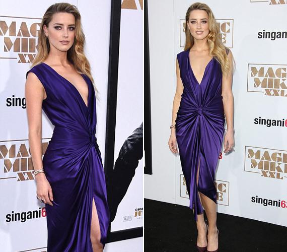 Amber Heardre szegeződött minden tekintet, amikor megjelent a premieren ebben a ruhában. A fotósoknak is tetszett a látvány, róla készült a legtöbb kép.