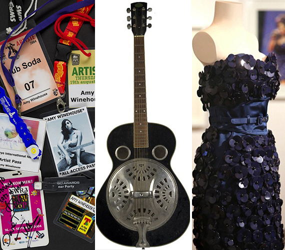 A kép bal oldalán Amy fesztiválbelépői és karszalagjai láthatóak, amelyeket azután kezdett gyűjteni, hogy egyre többször hívták fellépésekre. Középen a gitár, amelyet bátyjával együtt használtak. A jobb oldalon pedig az a ruha látható, amelyet 2008-ban Glastonburyben viselt, valamint 2007-ben a Mobo Awardson.