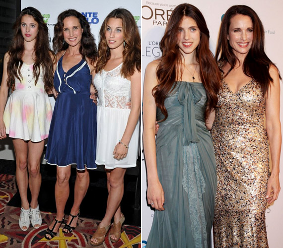 Az 53 éves színésznőnek sem kell szégyenkeznie fiatal lányai mellett, még mindig remek formában van.