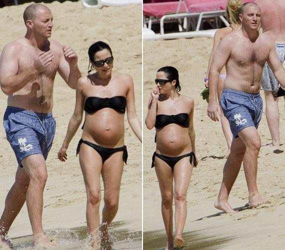 A 37 éves énekesnő és 34 éves férje már nagyon várják a baba érkezését.