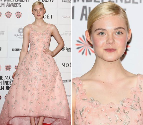 Elle Fanning inkább a királylányosabb ruhára szavazott a Független Film Díjátadón.