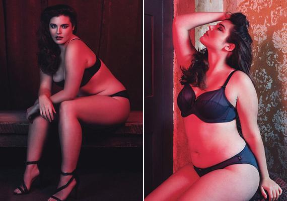 A képek a SLINK magazinba készültek - ez egy brit divatlap, amely kifejezetten a teltebb nőket célozza meg.