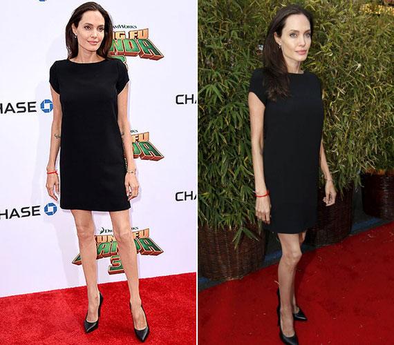 A színésznőnek a lábain és a kezein jól megfigyelhető, hogy csont és bőr. Ismerősei és családtagjai aggódnak érte, nem beszélve férjéről, Brad Pittről.