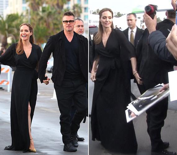 Angelina Jolie pajkosan belecsípett párja fenekébe.
