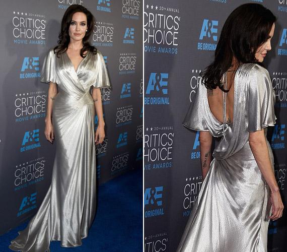A 39 éves színésznőVersace ruhája nem aratott osztatlan sikert.