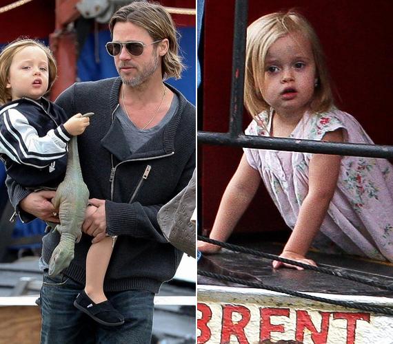 Úgy tűnik, szépen be vannak osztva a szerepek a Jolie-Pitt családban: Knox a papa, Vivienne pedig a mama kezét fogva ment az előadásra.