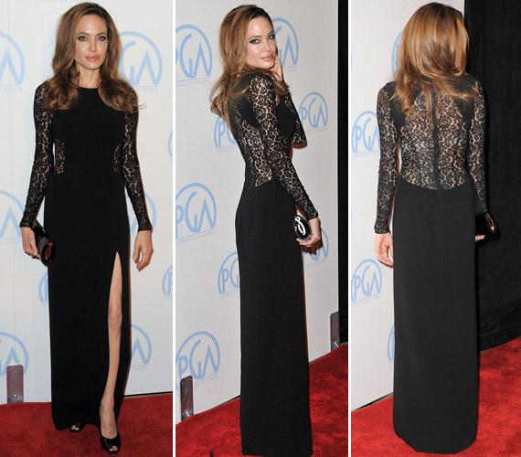 Angelina Jolie ismét a vörös szőnyeg szépe volt.