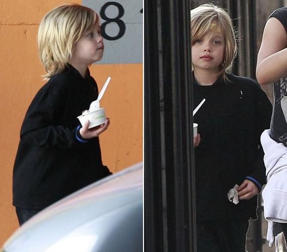 A hétéves Shiloh hasonlít legjobban a szépséges színésznőre. Ugyan még elég fiús, de vonásain látszik, hogy gyönyörű nő cseperedik majd belőle.