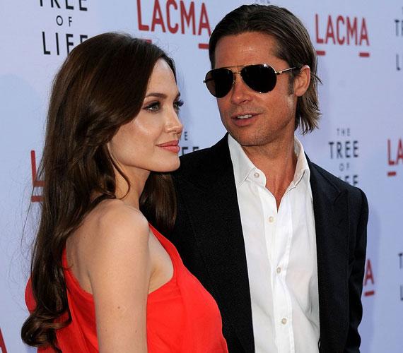Nem meglepő, hogy Brad Pitt áhítattal és rajongva figyelte szerelmét.