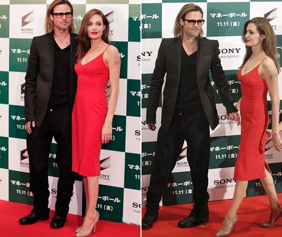 Angelina Jolie és Brad Pitt kéz a kézben érkeztek, nem mozdultak egymás mellől az este folyamán.