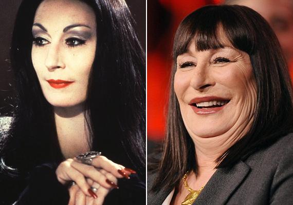 Legtöbben Morticia Addams alakítása kapcsán ismerik a színésznőt. A gótikus szépség azóta inkább a Csillagok háborúja Jabbájára hasonlít.
