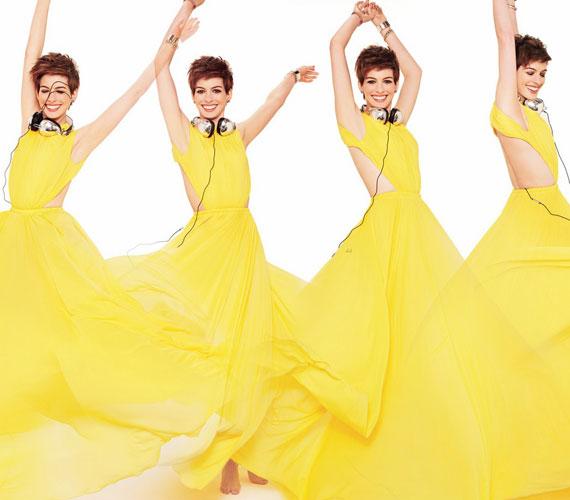 Ez a sárga ruhás sorozat szintén a Glamour 2013-as februári számához készült.