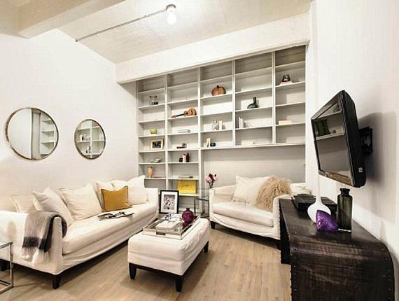 A lakásban eredetileg három hálószoba volt, de az egyiket a színésznő nappalivá alakíttatta át - azt, amelyik a leginkább eldugott volt.