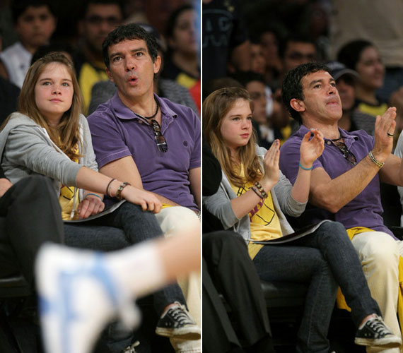 Gyakran látni őket kosármeccsen is. Lelkes Los Angeles Lakers-szurkolók.