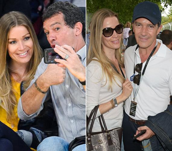 Az 54 éves színész és kedvese a hétvégén Londonban jártak, ahol megnézték a Formula-E bajnokság befejezését. Banderas nagyon energikusnak tűnt, állandóan viccelődött, és mókás fotókat készített magukról. Köztük 20 év a korkülönbség.