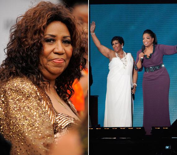 Csak remélni lehet, hogy Aretha Franklin nem eltitkolt rákbetegsége miatt fogyott le ilyen látványosan.