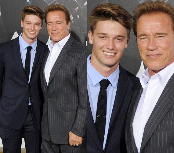 Apjuk büszke lehet rájuk: szívesen pózolt idősebbik fiával új akciófilmjének hollywoodi premierjén augusztus 15-én.