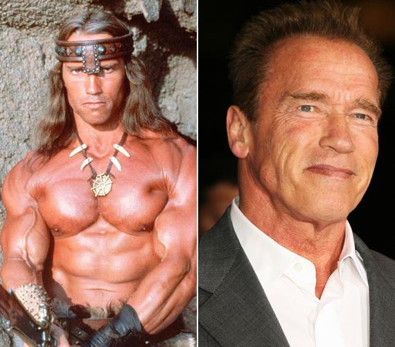 Volt már az egykori kormányzónak hosszú haja, a Conan, a barbárban.
