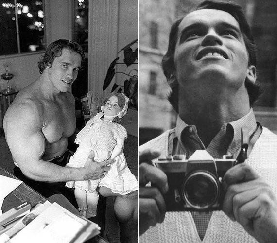 A fiatal Arnold Schwarzenegger nem szégyellt babákkal játszani, és már jóval az előtt szelfizett, hogy az menőnek számított volna.