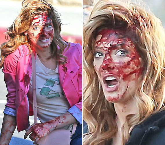 Ashley Greene kifejezetten élvezi, ha elmaszkírozzák, rengeteget viccelődött ezen a forgatáson is.