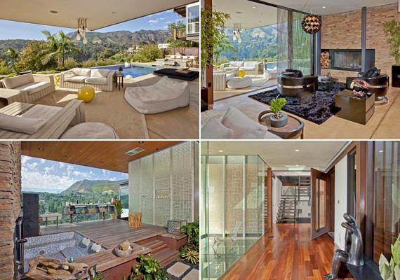 A hatalmas üvegfalaknak köszönhetően az egész házat elárasztja a fény és jó időben a napsugarak - a világos bútorok csak még jobban hozzátesznek ehhez.