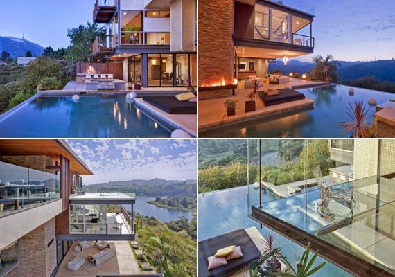 A kint és bent egybeolvad, ahogy medencét és nappalit is találunk a friss levegőn és a házfalak között egyaránt.