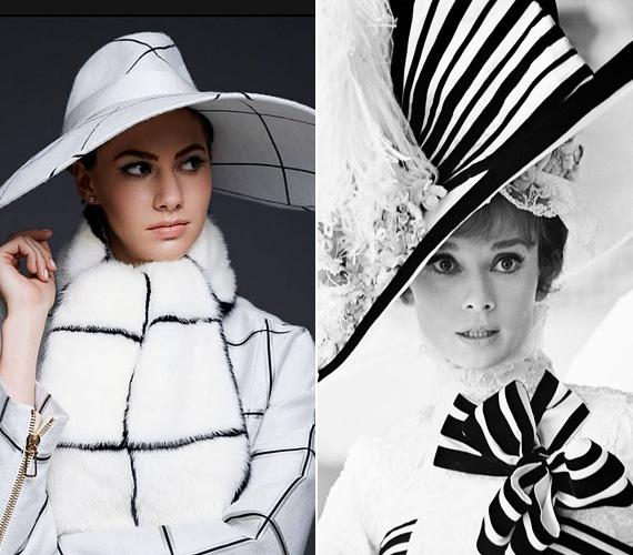Emma ezen a fotón Audrey Hepburn egyik híres filmjét, a My Fair Ladyt idézi. Mint egy interjúban elmondta, sajnos személyesen már nem tudtak találkozni nagymamájával - Audrey fia Emma édesapja -, a színésznő 1993 januárjában hunyt el, míg Emma 1994-ben született.