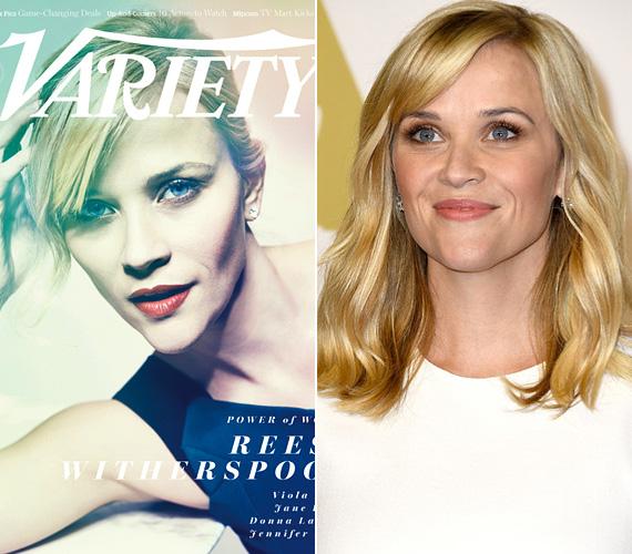 Reese Witherspoon a Vadon - Wild - című filmért érdemelte ki a BAFTA-jelölést. A 38 éves színésznőt a 2014. októberi Variety az általuk befolyásosnak ítélt nők egyikeként tette a címlapjára - bár az arcát mintha szándékosan eltorzították volna.