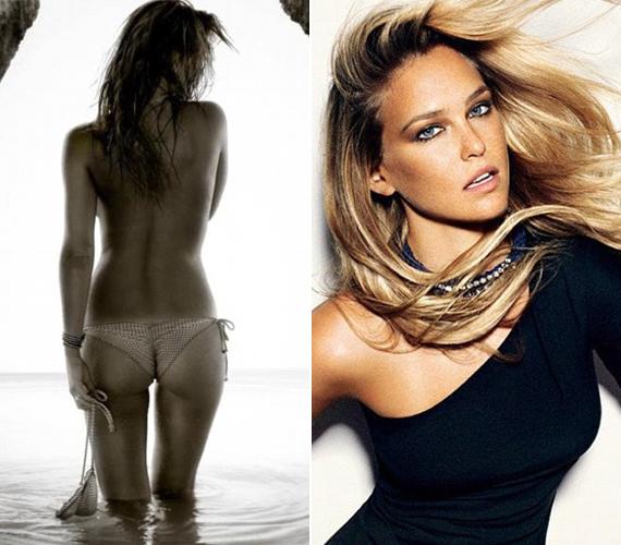Azt a modell nem kötötte rajongói orrára, hogy egy medencébe vagy a tengerbe készült-e csobbanni, kezében a fürdőruhájával.
