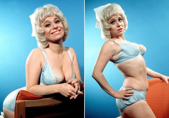 A '70-es években a szexideál kicsit eltért a maitól, a férfiak szerették, ha egy nőn volt mit fogni, ezért imádták a színésznő telt idomait is.