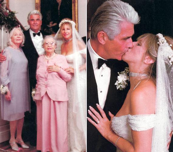 Barbra Streisand és James Brolin jövőre 20 éve vannak együtt, július 1-jén pedig a 18. házassági évfordulójukat ünneplik majd. Az itt látható fotók az esküvőjükön készültek.