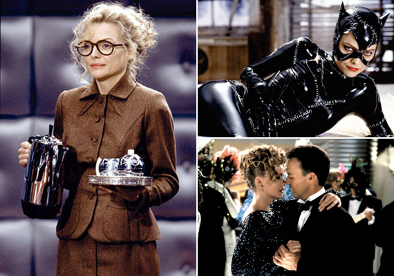 Jóval Anne Hathaway és a 2004-es Macskanő című film címszereplője, Halle Berry előtt a máig gyönyörű Michelle Pfeiffer öltötte magára a Macskanő bőrszerkóját a Batman visszatérben.