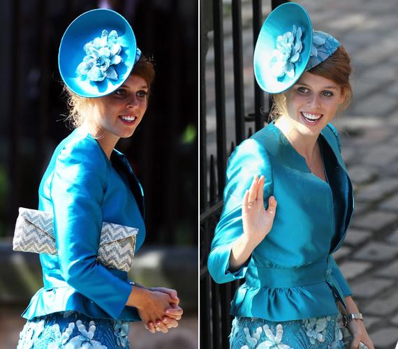 A hercegnő furcsa vonzódást érez a különösebbnél különösebb kalapok iránt, bár ez a kék még a visszafogottabb kategóriába tartozik.