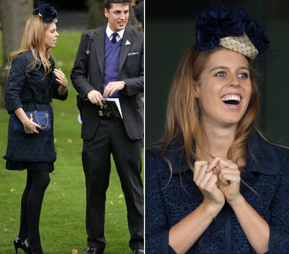 Unokatestvére, Zara Phillips egyik versenyére csipkés kabátot és rakott szoknyát választott. Természetesen a kalap sem maradhatott le.