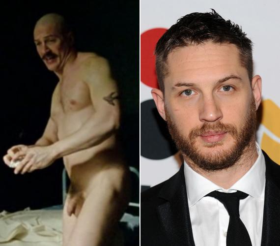 A 37 éves Tom Hardy 2008-ban a Bronson című filmben dobta le az összes ruháját, felfedve legintimebb testrészeit. A jelenet tanúsága szerint egyáltalán nem zavarták a kamerák, sőt.